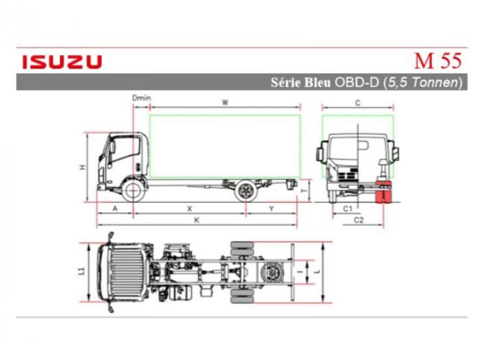 Preiseliste und technische Form Isuzu M55