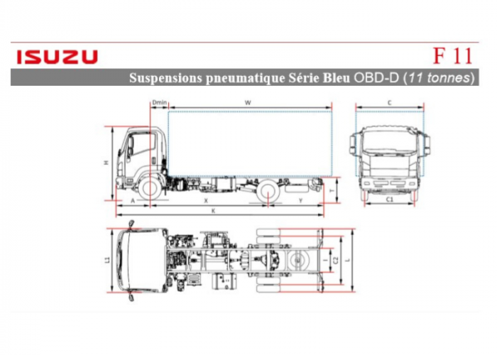 Catalogue Isuzu F11 Susp. Pneu.