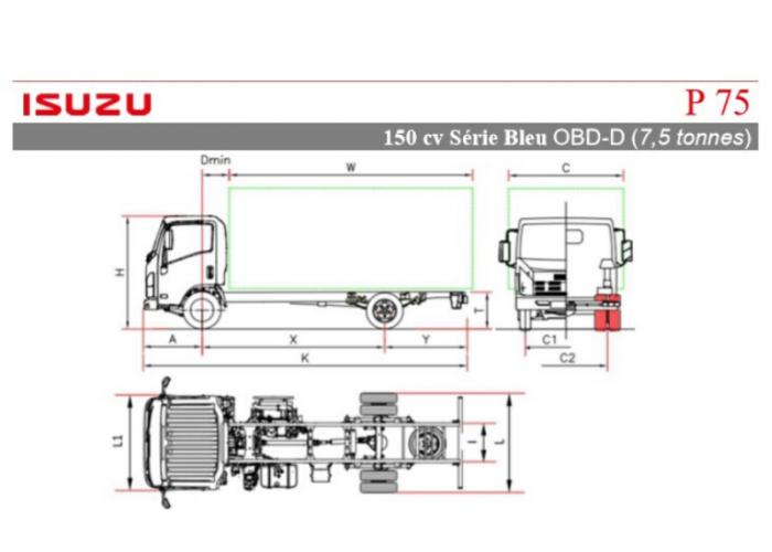 Catalogue Isuzu P75 150cv