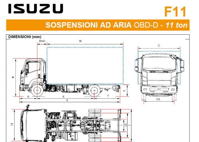 Listino Isuzu F11 Ton Sosp.pneumatiche