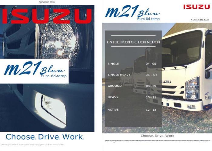 Preisliste und technische Form Isuzu M21 - Juli 2020
