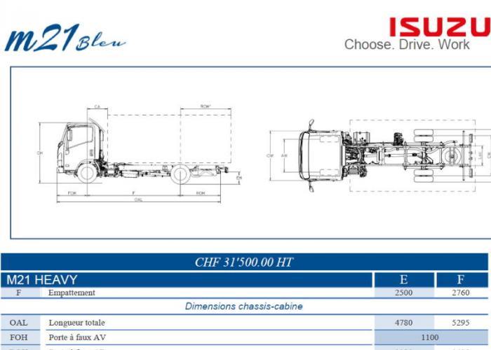 Catalogue Isuzu M21 Heavy