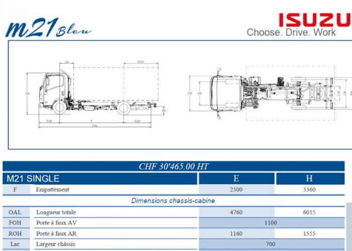 Catalogue Isuzu M21 Single