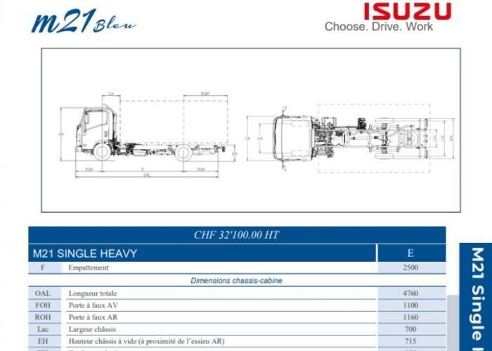 Catalogue Isuzu M21 Single Heavy