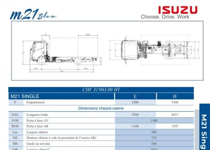 Catalogue Isuzu M21 Single