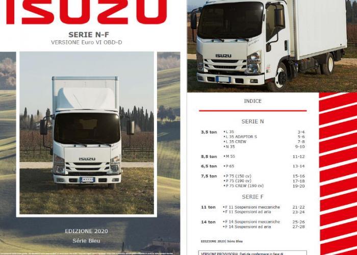Catalogo e listino prezzi Isuzu Truck Versione Euro VI OBD-D, Maggio 2020