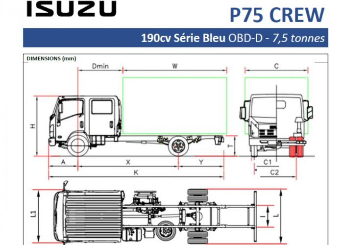 Catalogue Isuzu P75 CREW 190cv